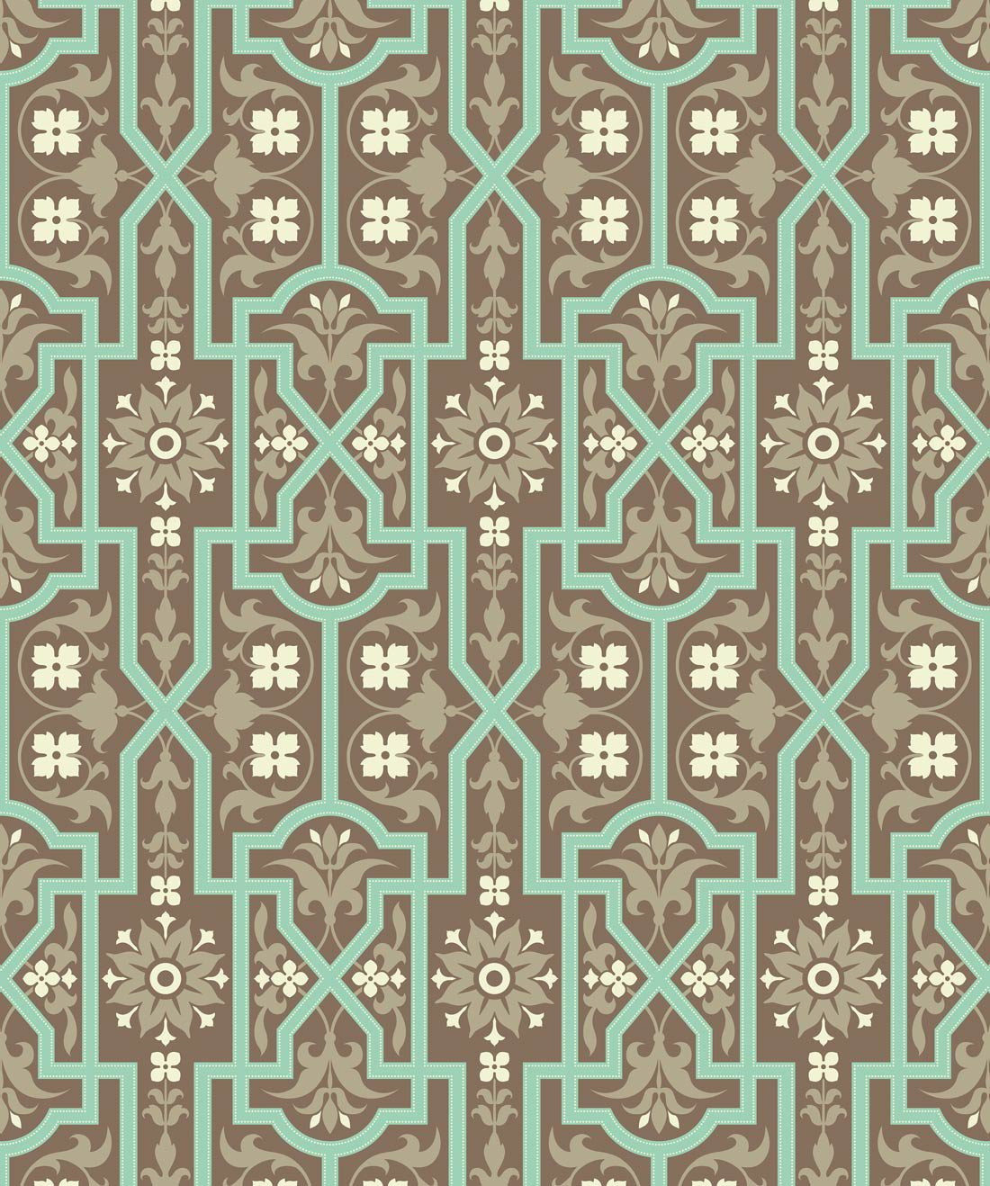 Architectural Mint Slice Wallpaper