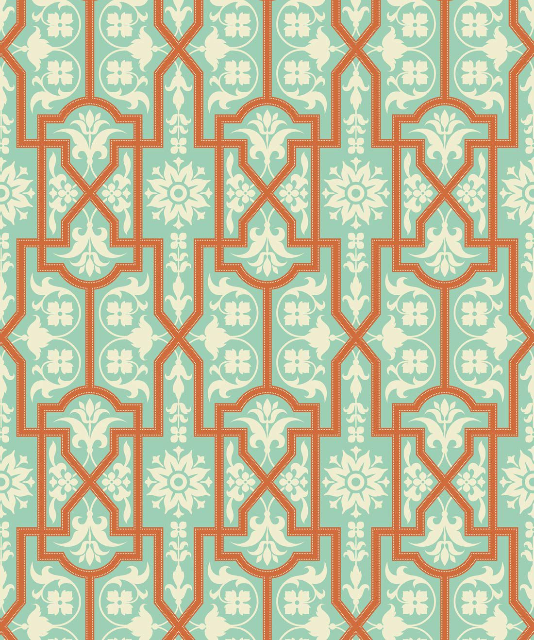 Architectural Apricot Wallpaper