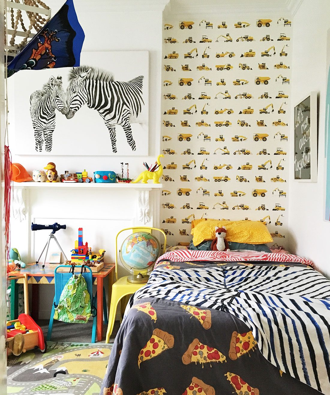 Tonka Tough • Tonka Wallpaper • Yellow Trucks • Construction Wallpaper • Milton & King USA