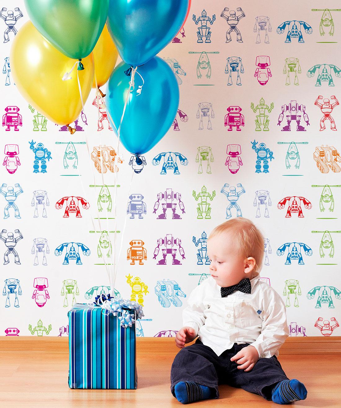 Robots Wallpaper • Milton & King USA
