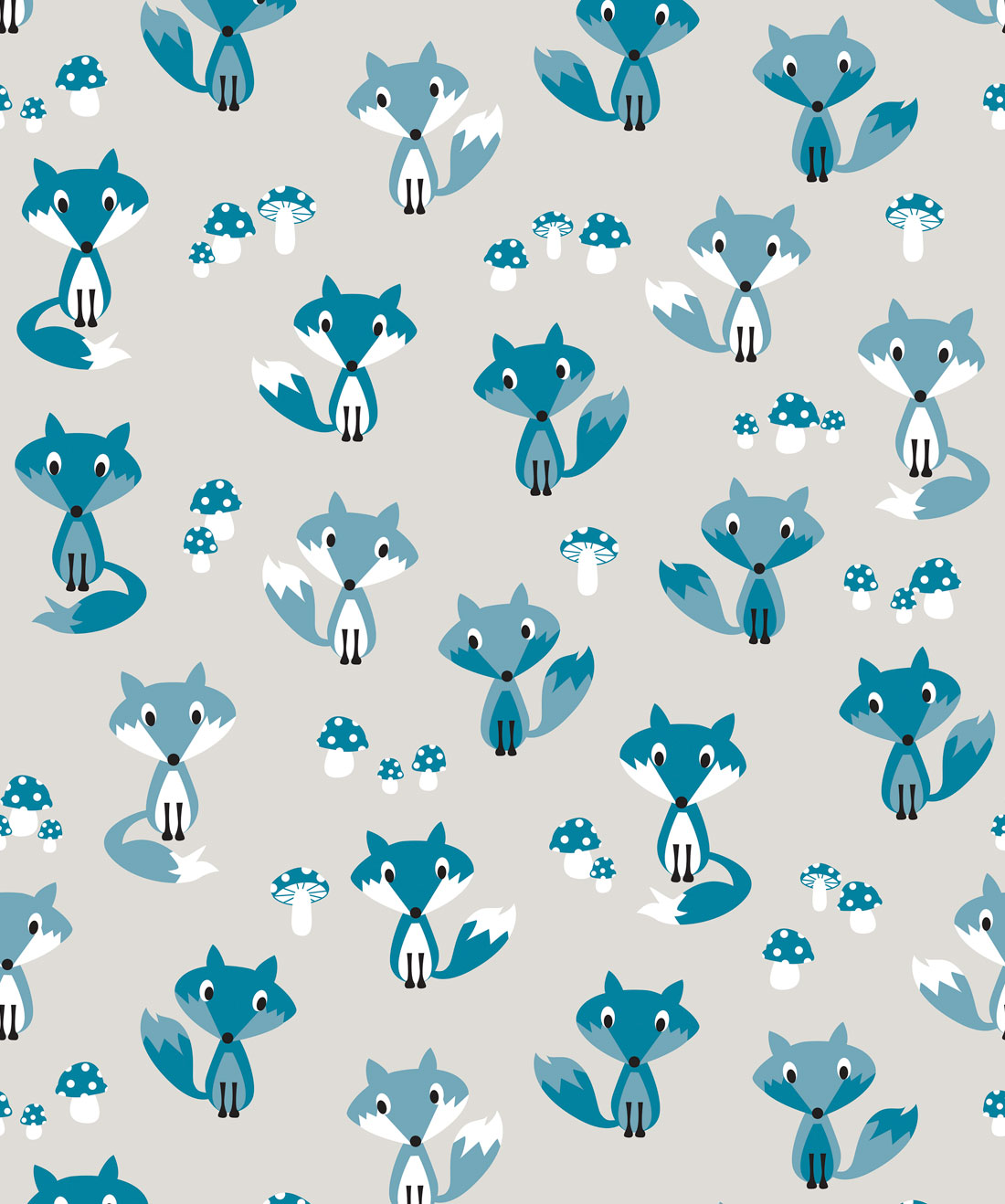 Garden Foxes Wallpaper
