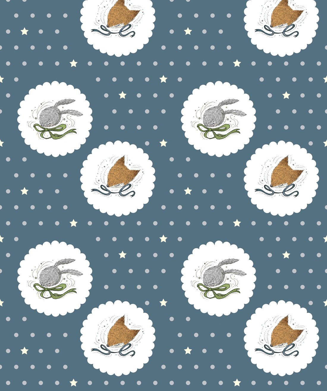 Fox & Rabbit Wallpaper