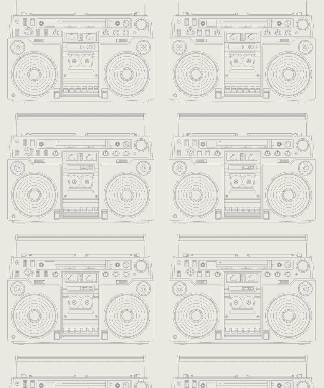 Boom Box Wallpaper Retro