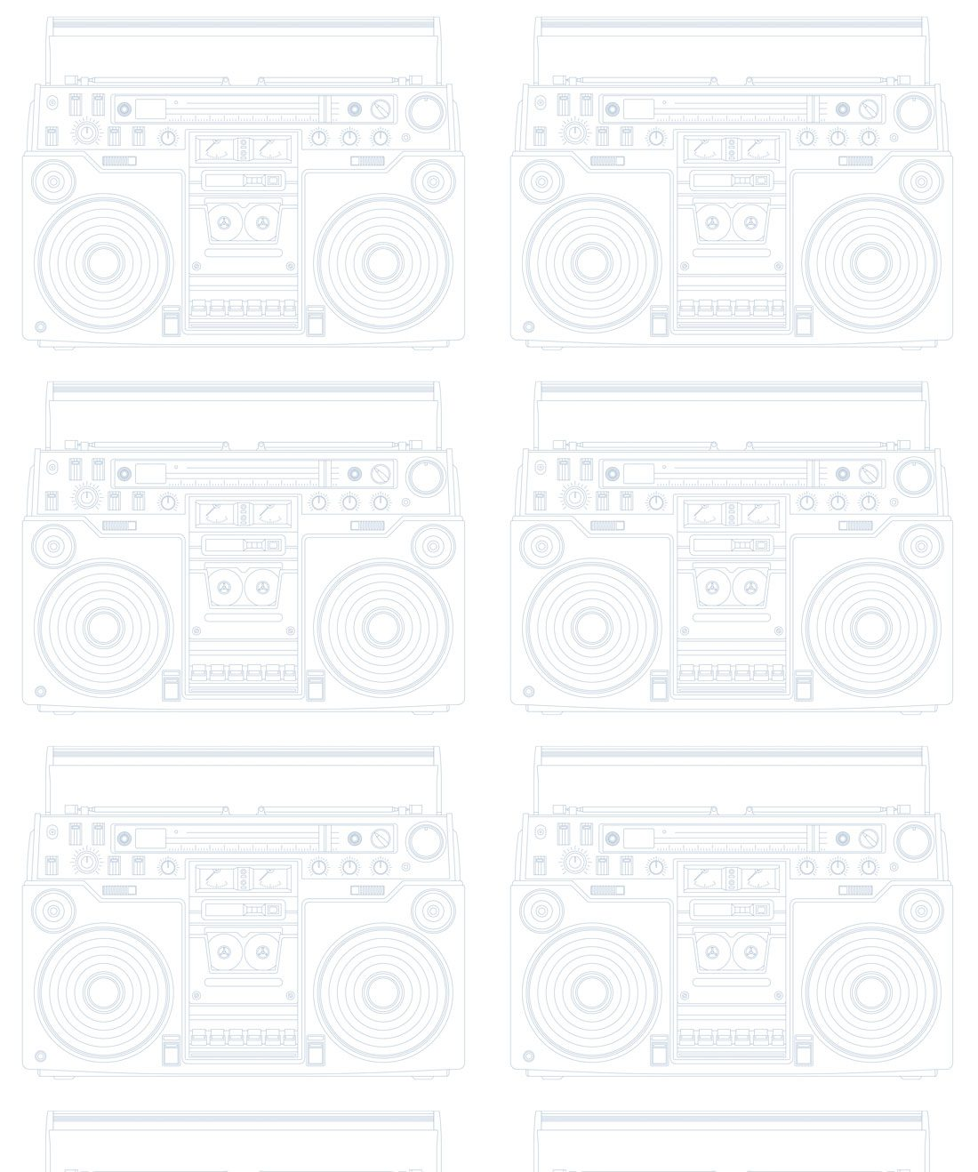 BoomBox PaleBlue Wallpaper