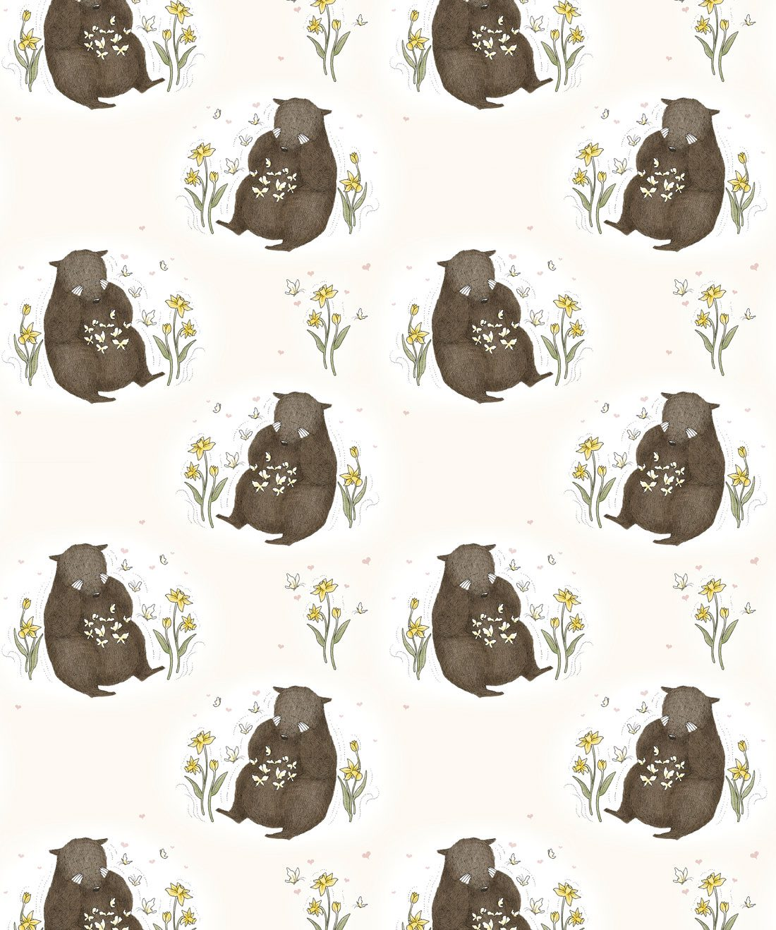 Bear & Butterfly Wallpaper