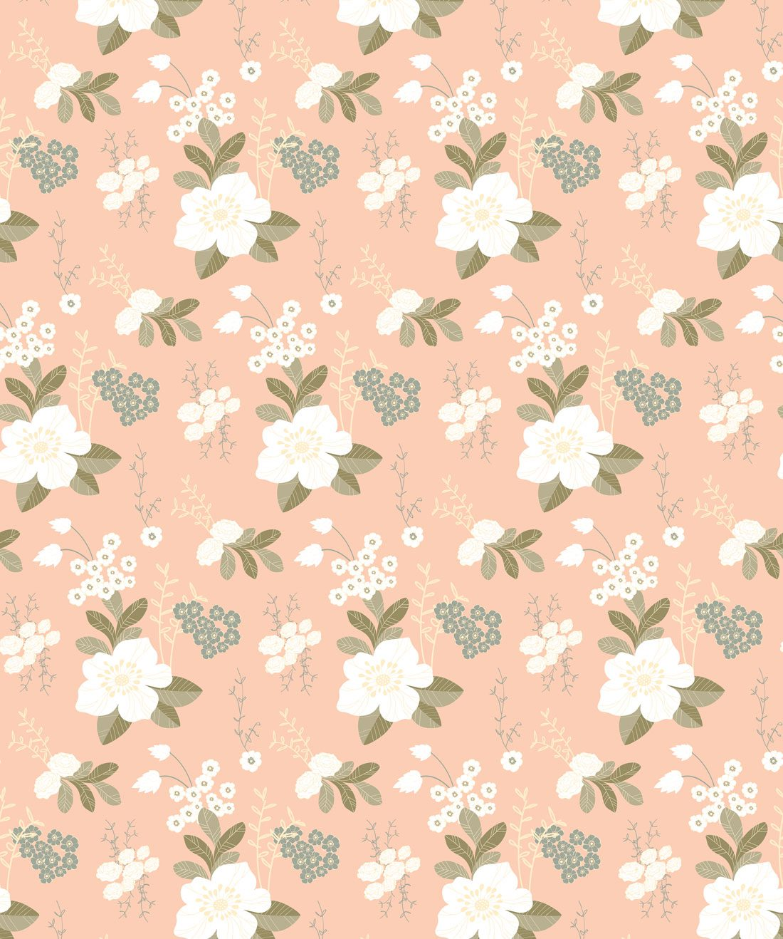Flower Garden - Peachy Wallpaper