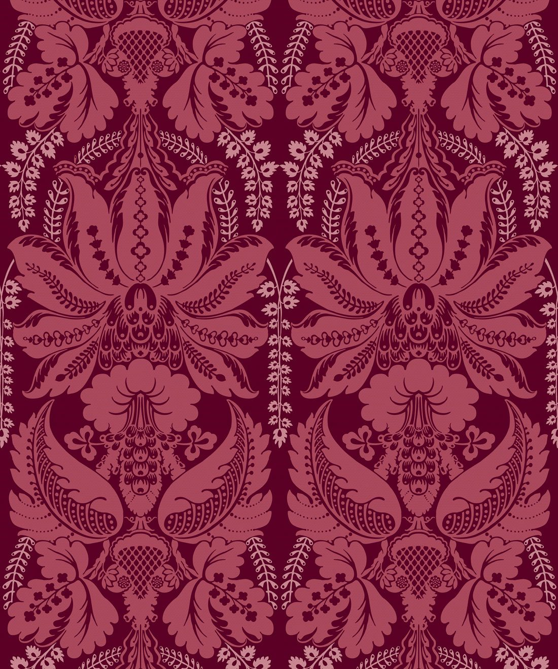 Windsor Wallpaper Crimson