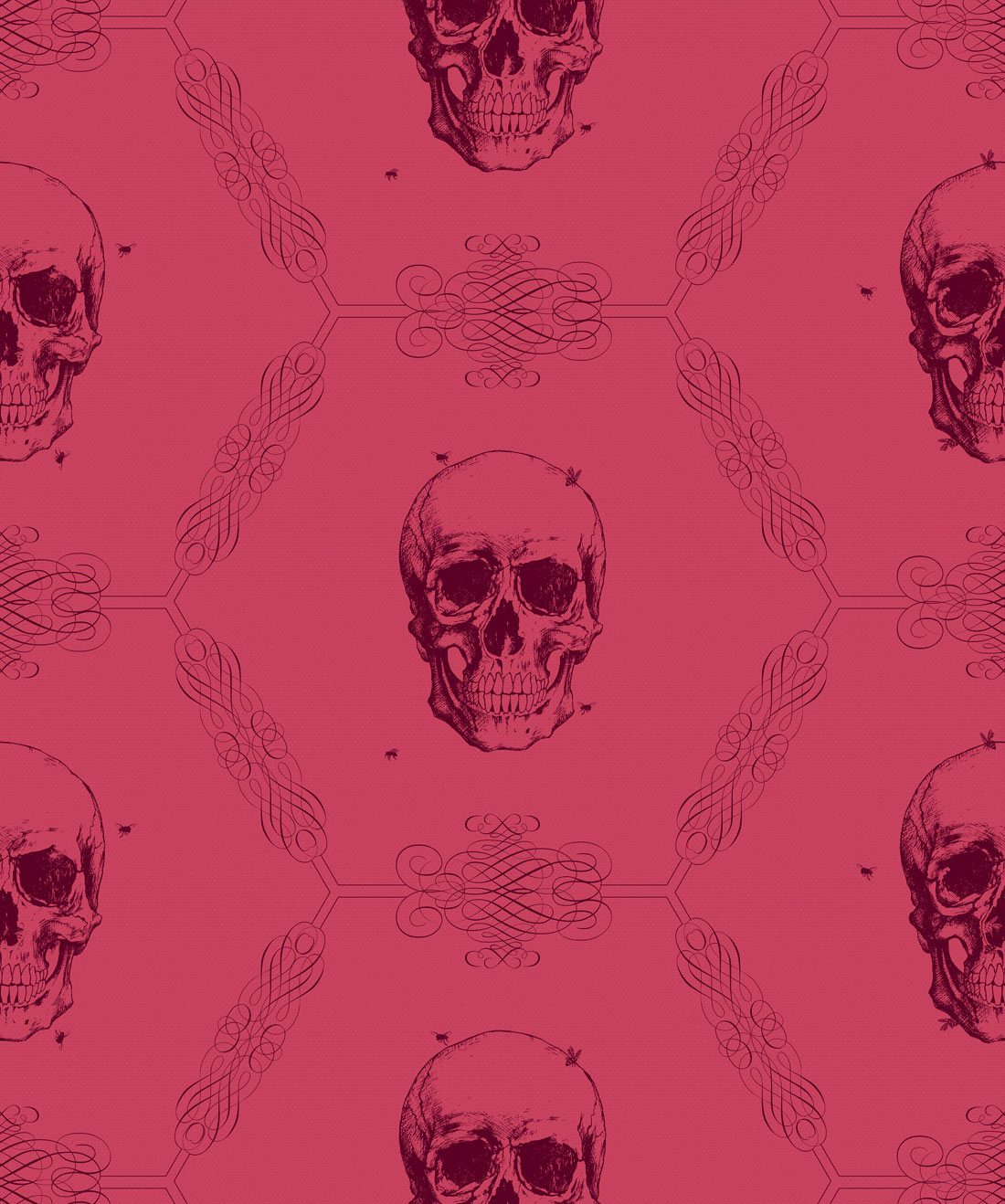 Skull & Bee Crimson