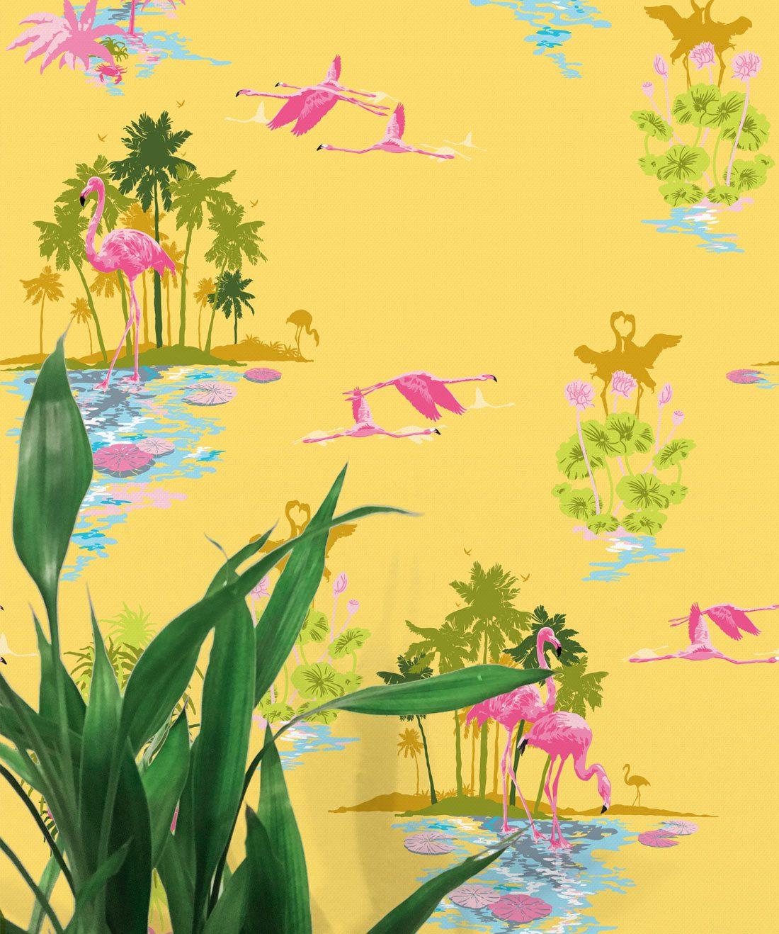 Flamingo Sunrise Wallpaper