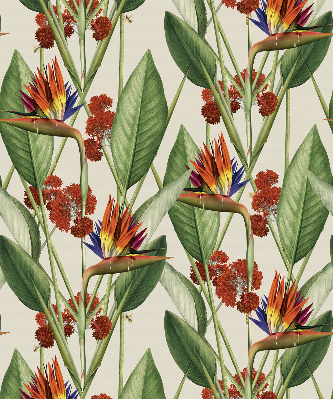Birds Of Paradise Wallpaper Bold Large Scale Floral Milton King