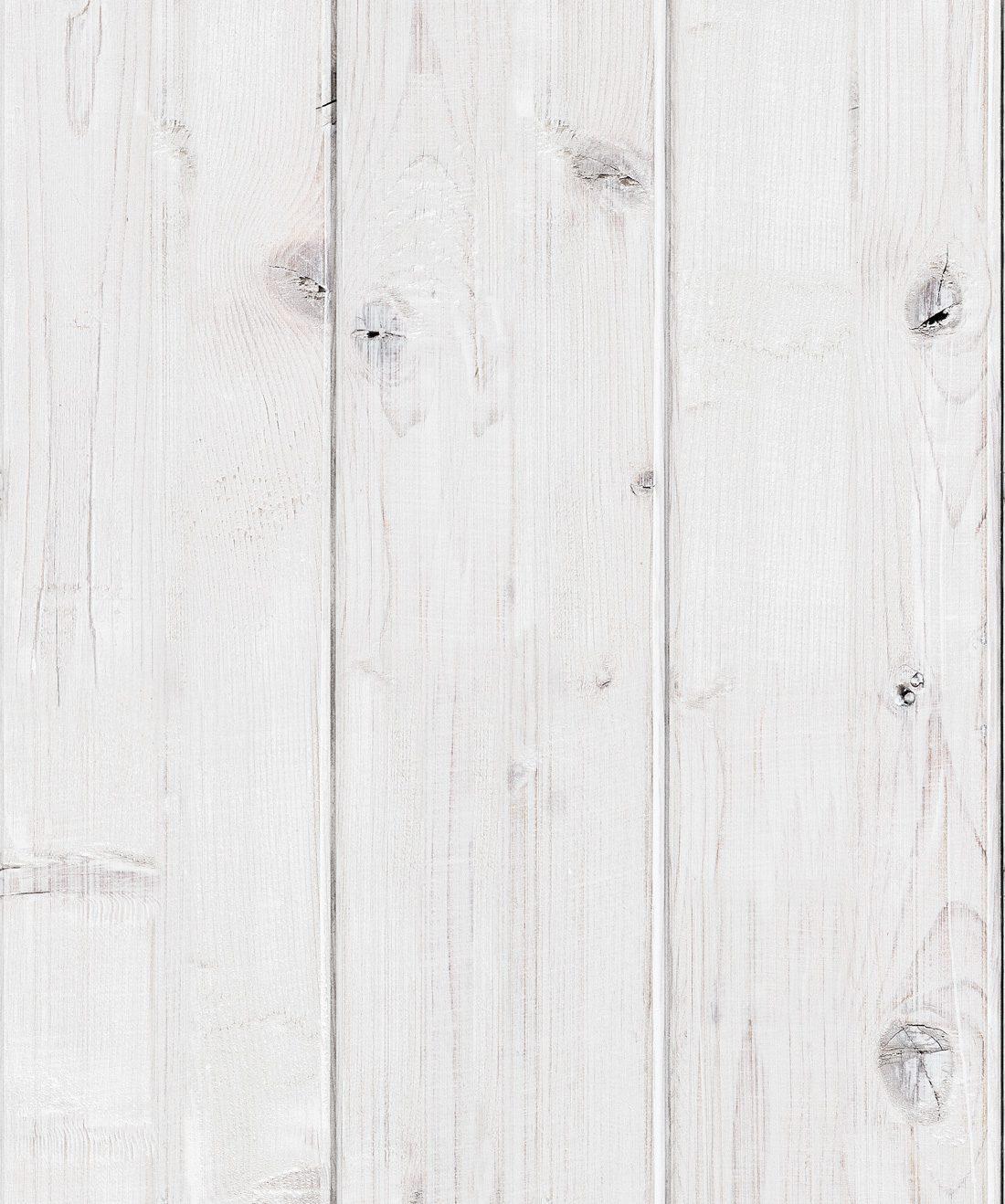 Whitewashed Timber Realisitic Shiplap Wallpaper Milton King
