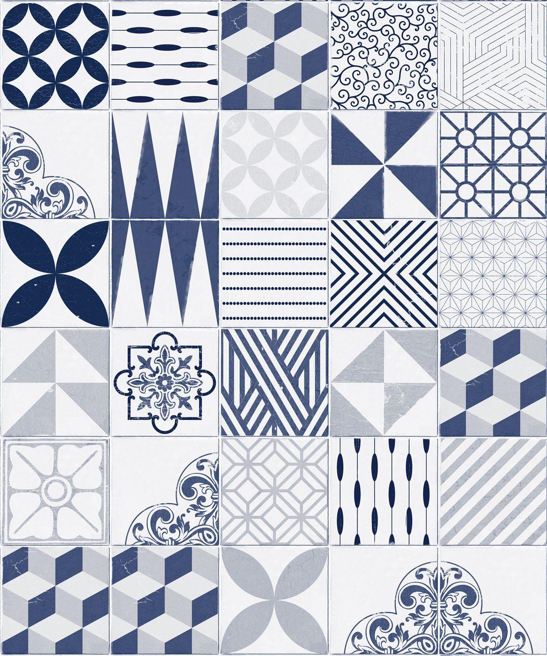 Cement Tiles Blue