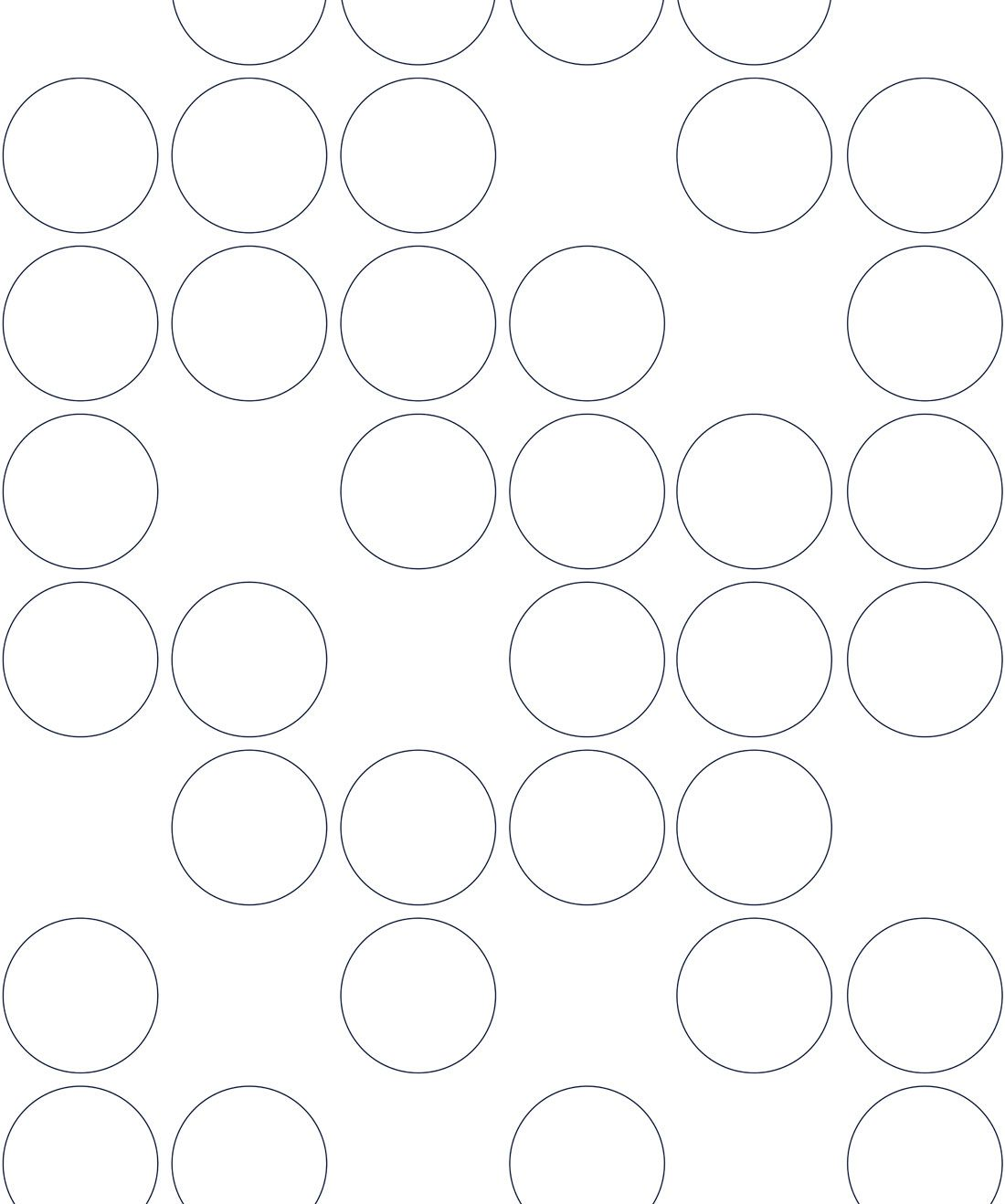 Connect Four Grey Outline