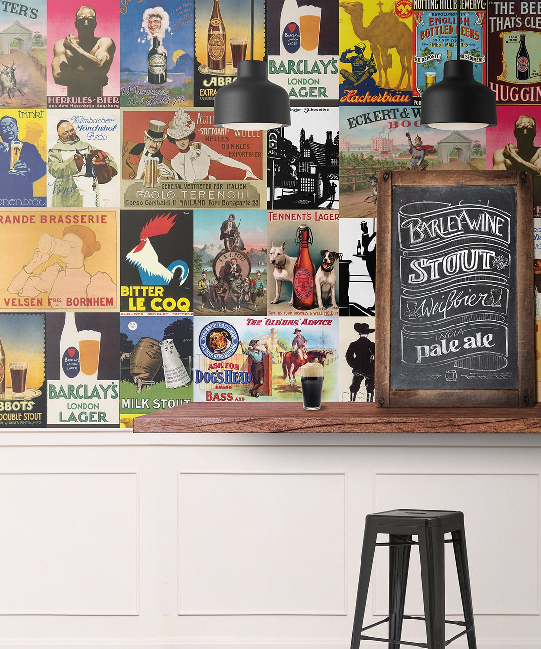Awesome Ale House Vintage Beer Themed Wallpaper Milton King Alphanode Cool Chair Designs And Ideas Alphanodeonline