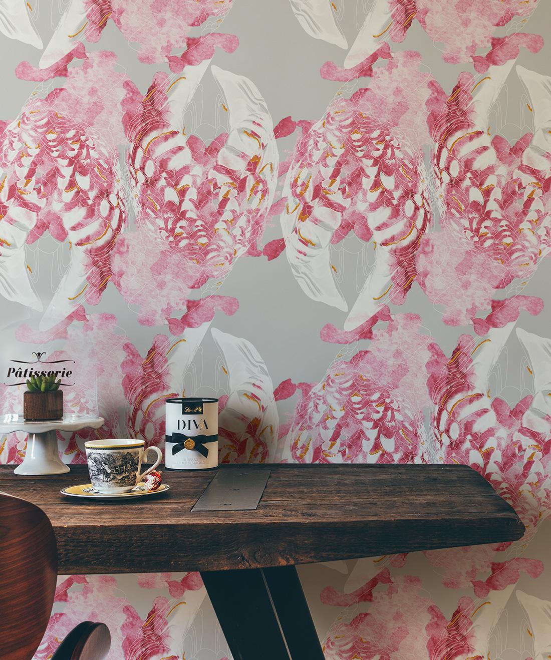 Kandos Wallpaper • Feather Wallpaper •Milton & King USA