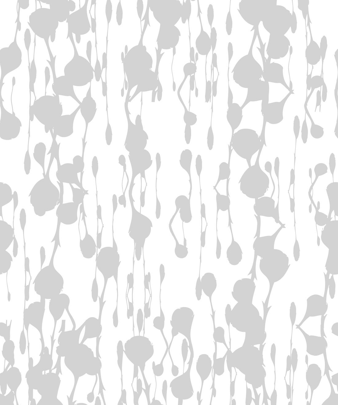 Floss Delight Wallpaper Grey