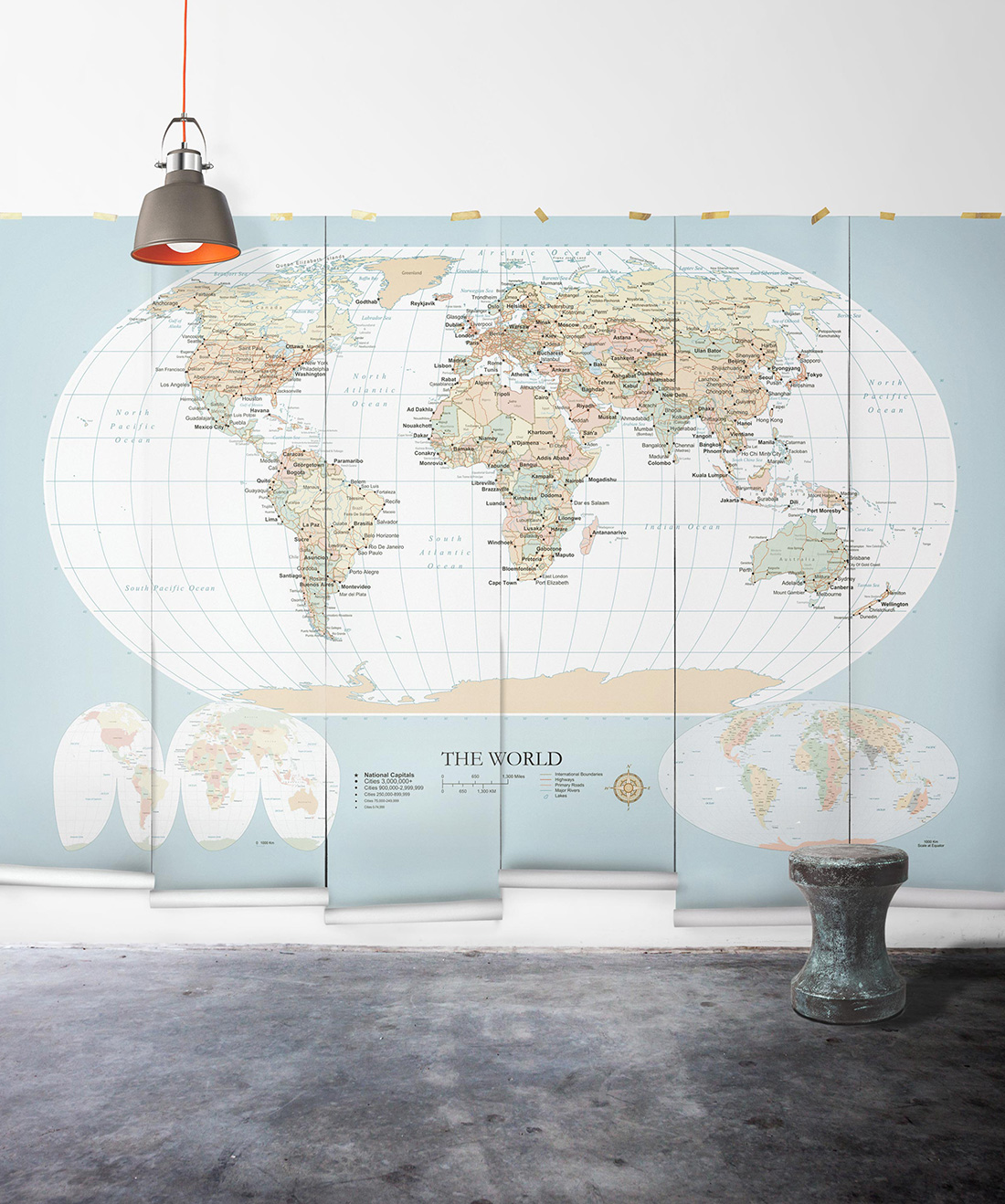 World Map Removable Mural • Explore the World • Milton & King on map tiles, map of america, map art ideas, map canvas painting, map wallpaper, map posters, map craft projects, map tattoo designs, map t-shirt designs, map border designs, map book covers, map wall decal, map still life, map wall art,