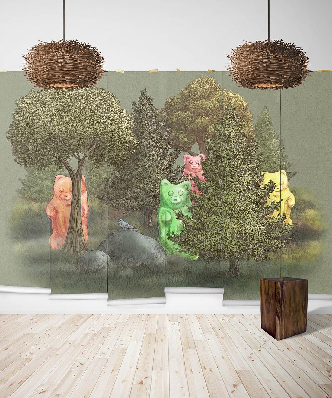 Wild Gummy Bears Mural