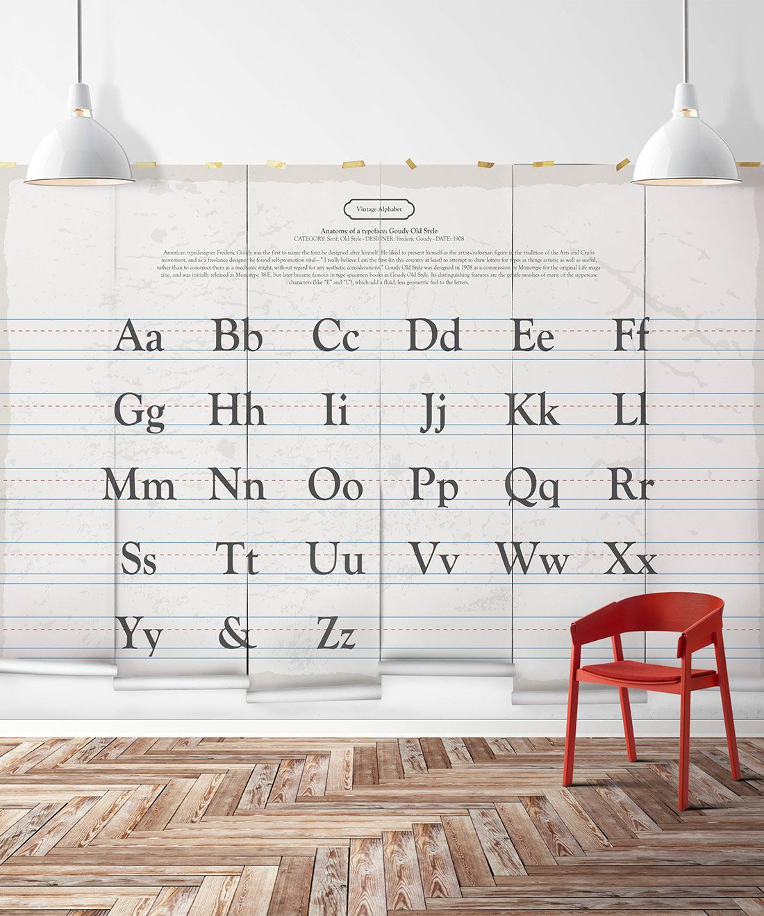 Vintage Alphabet Wall Mural