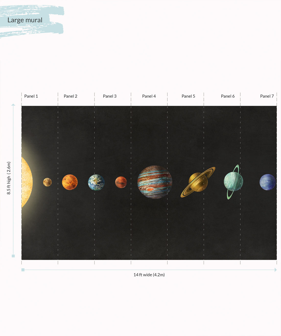 Solar System Wall Mural - Large