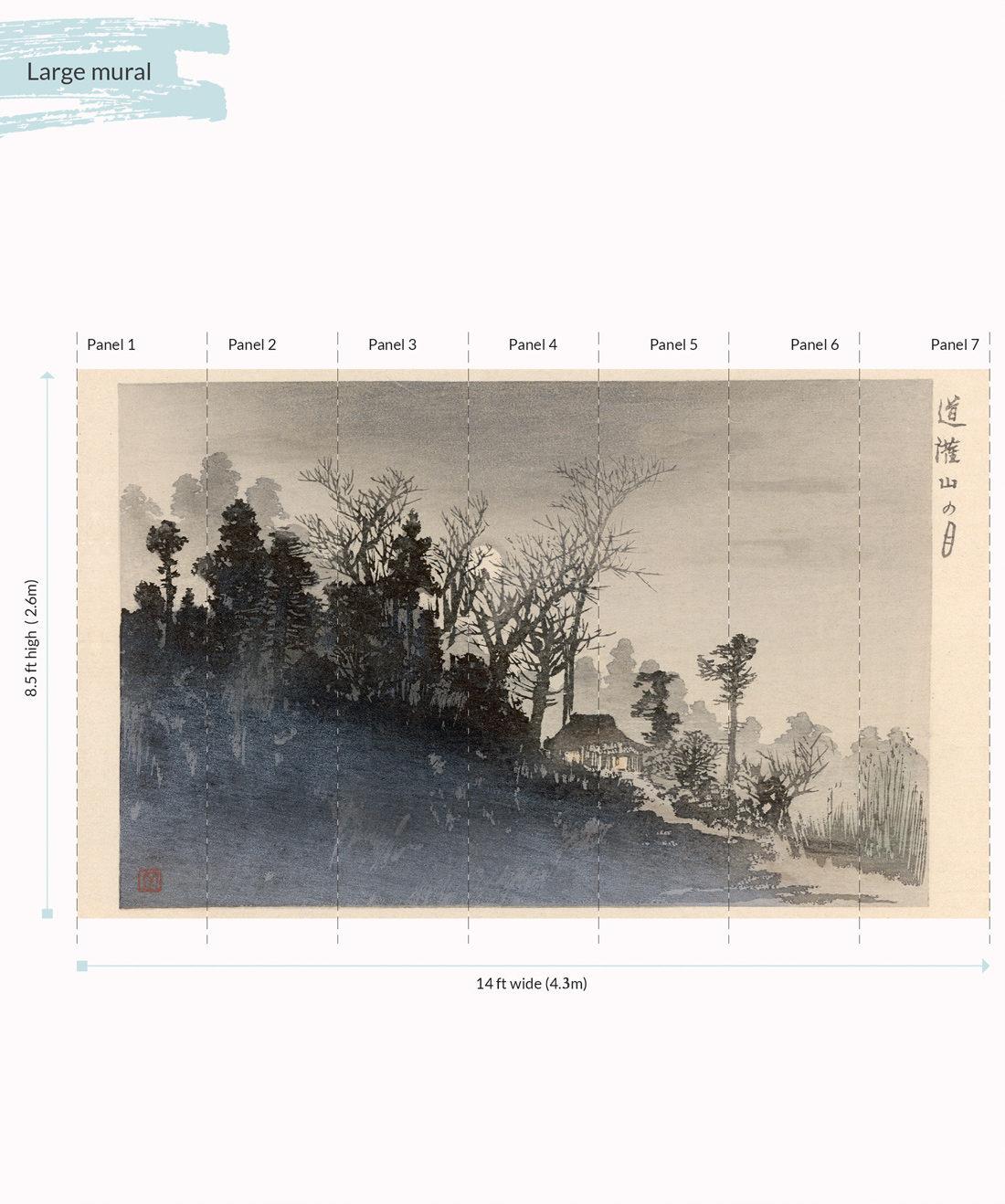 Mt Tsukuba Mist Wall Mural - Large