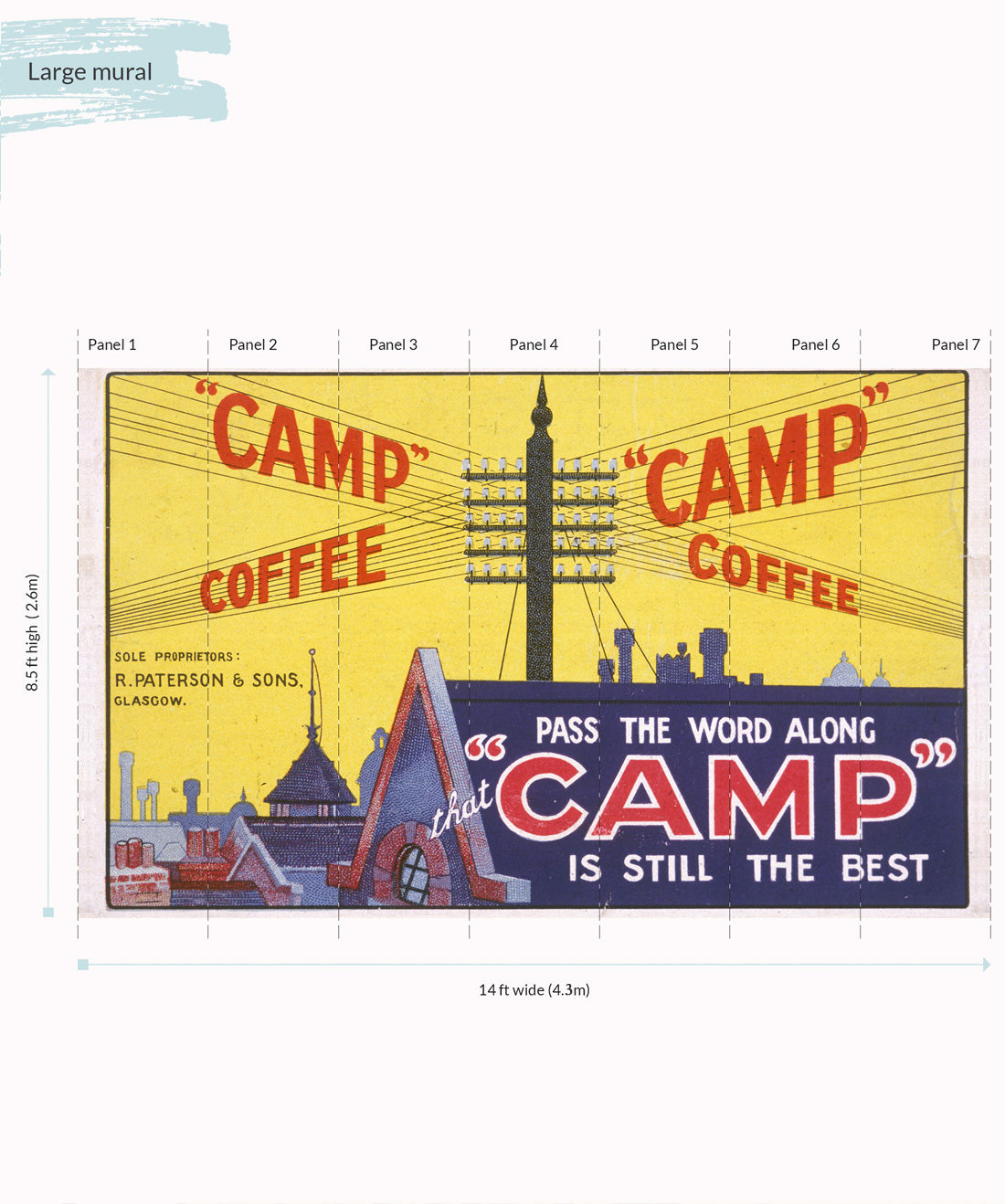 Camp Coffee Wall Mural - Large
