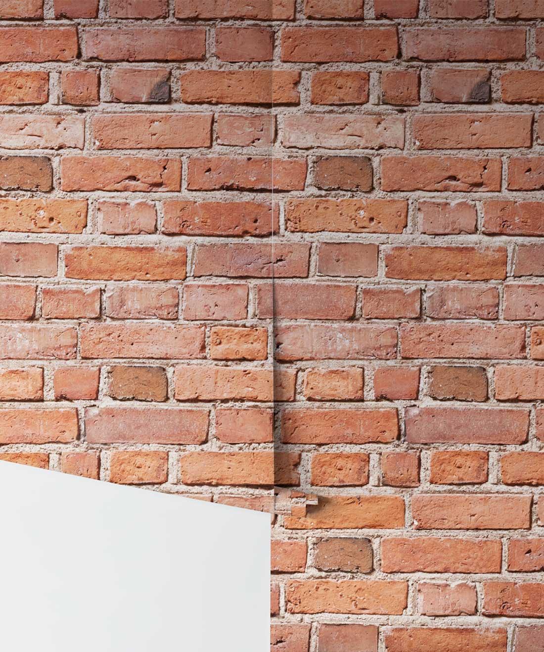 Classic Red Bricks Wallpaper • Industrial Allure of Brick ...
