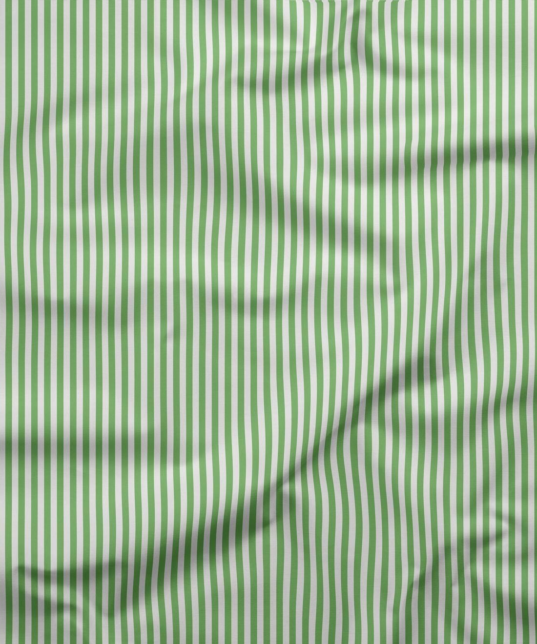 Candy Stripe Fabric Green