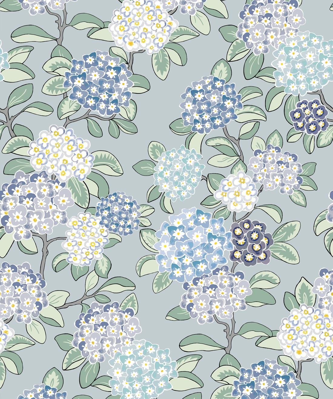 Modern Floral Wallpaper Hydrangea Wallpaper Milton King