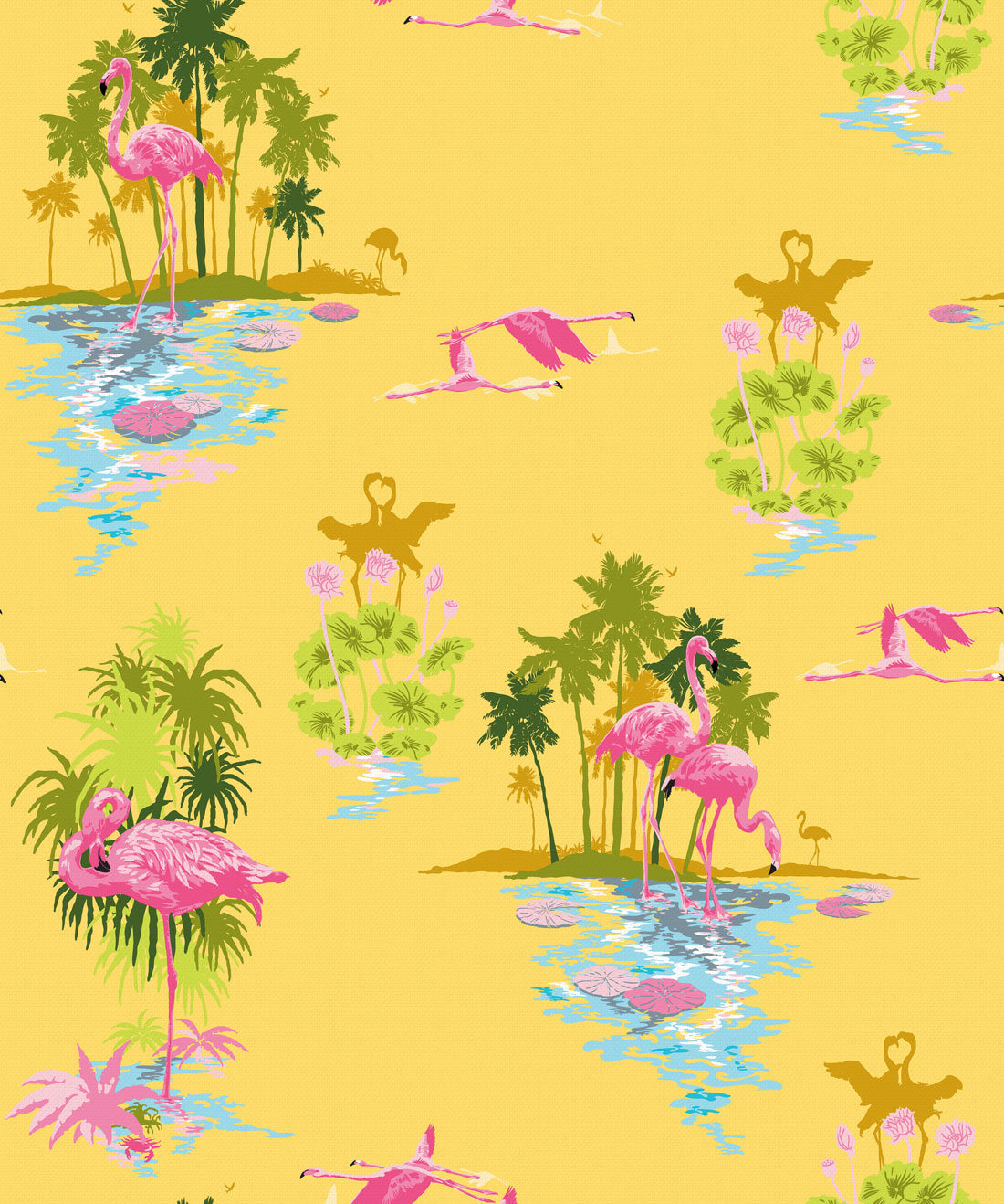 Flamingo Wallpaper Sunrise