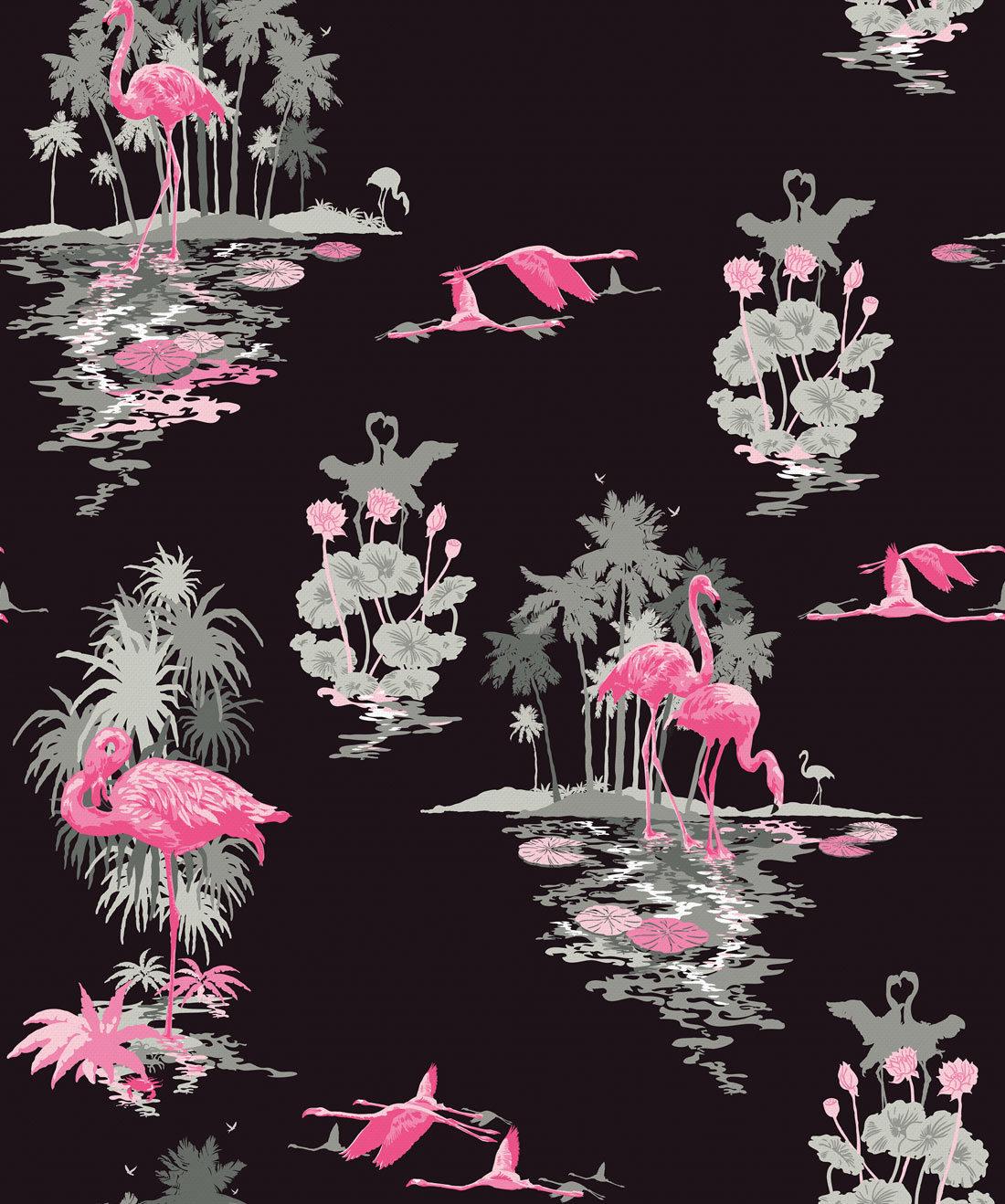 Flamingo Wallpaper Night