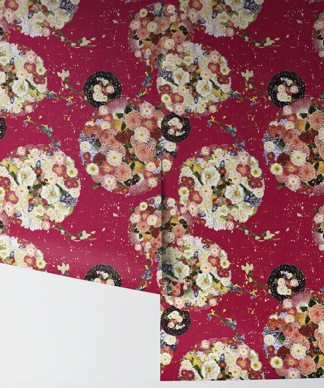 Flower Bomb Removable Wallpaper, Kingdom Home
