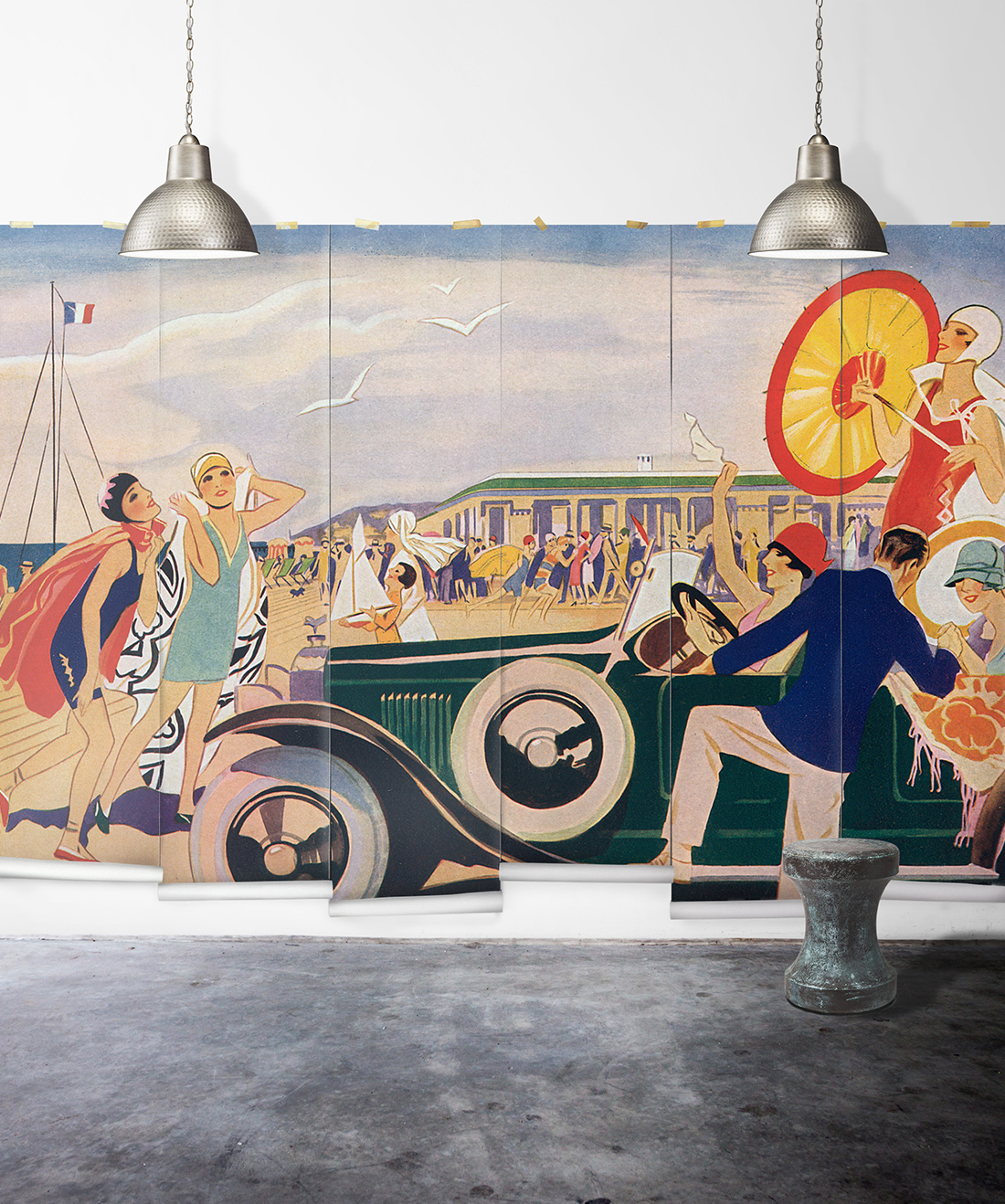 French Riviera Mural