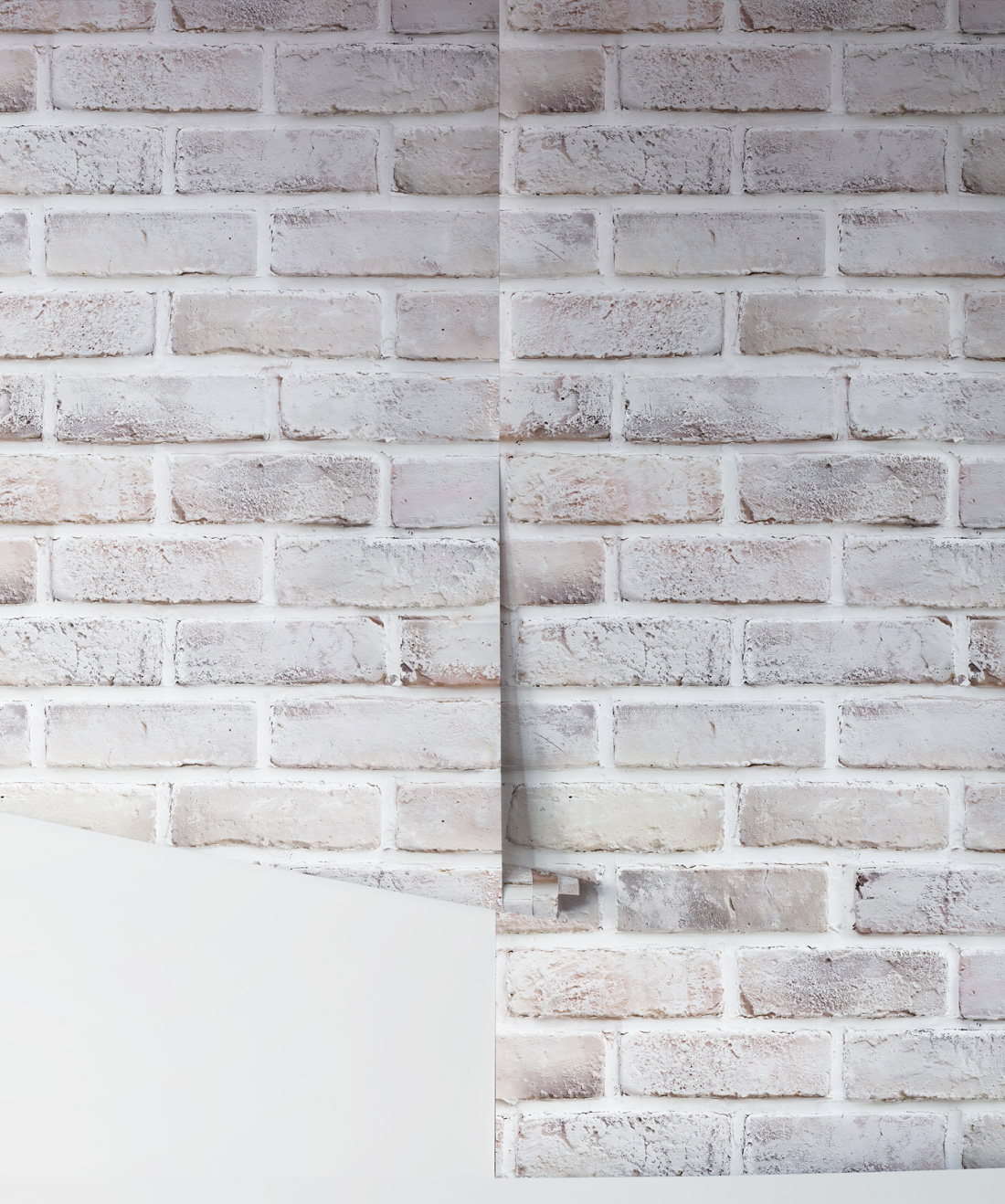 Lime Washed Bricks Wallpaper Super Realistic Milton King Aus
