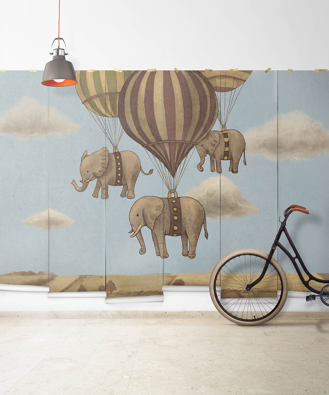 Flight of the Elephants Mural