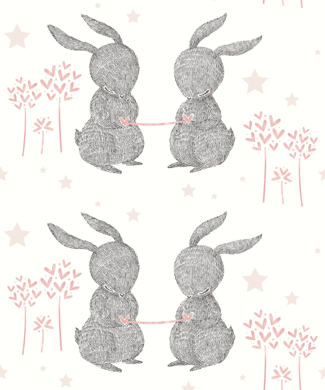 Rabbit Hearts Wallpaper