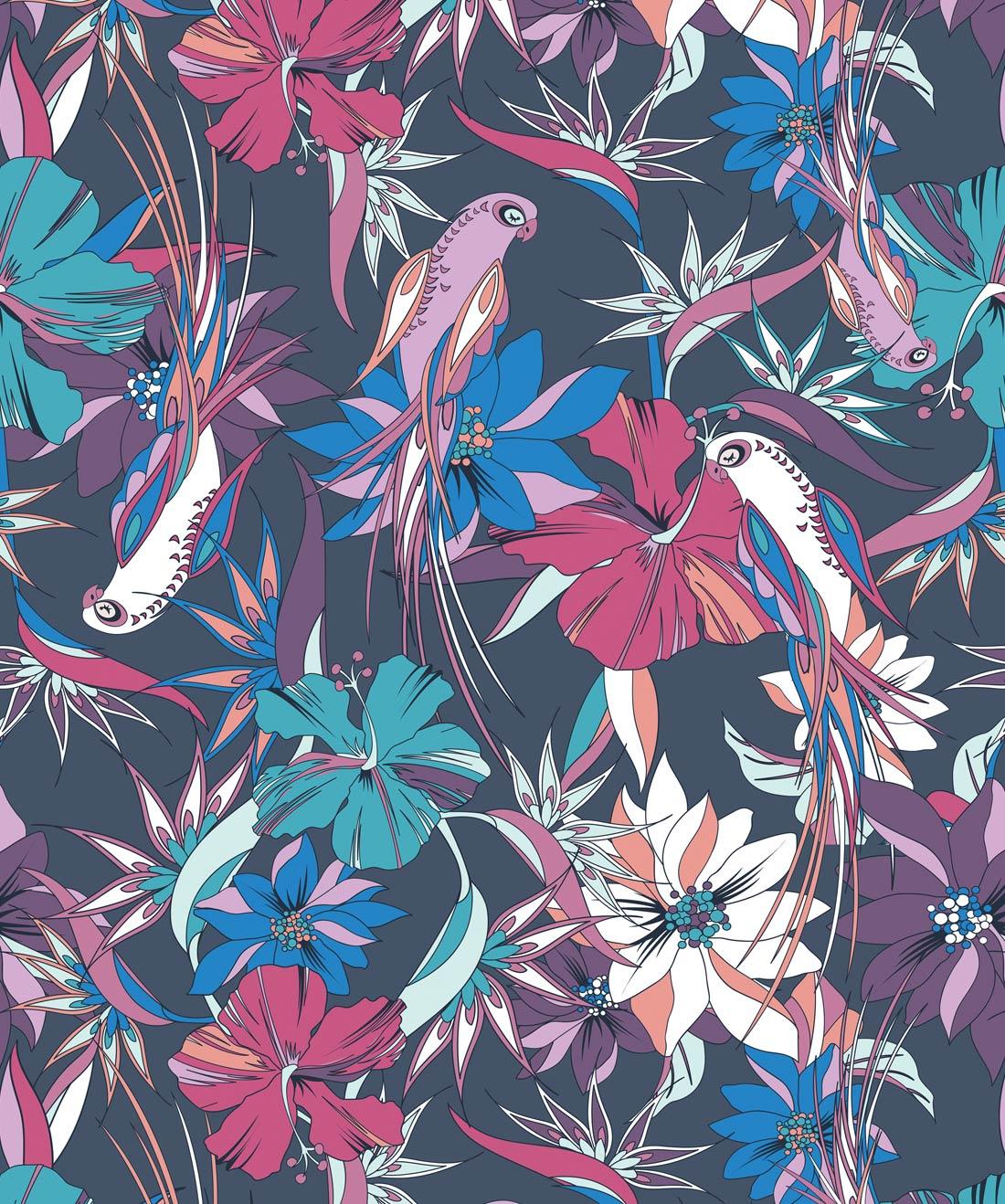 Parrot Paradise Wallpaper