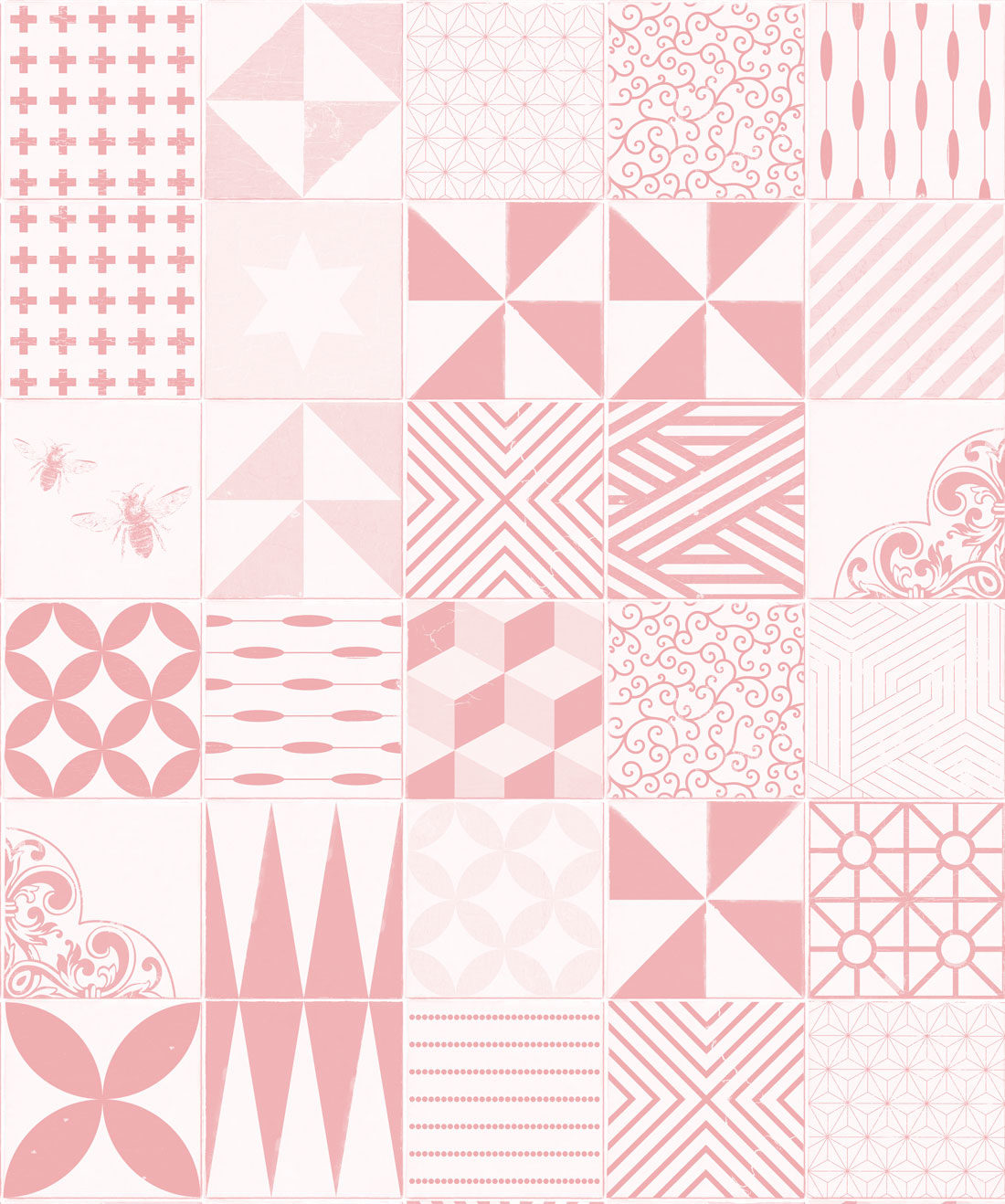 Cement Tiles Pink