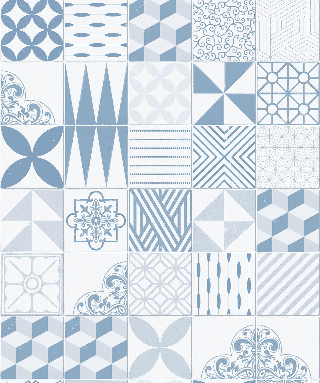 Cement Tiles Pale Blue