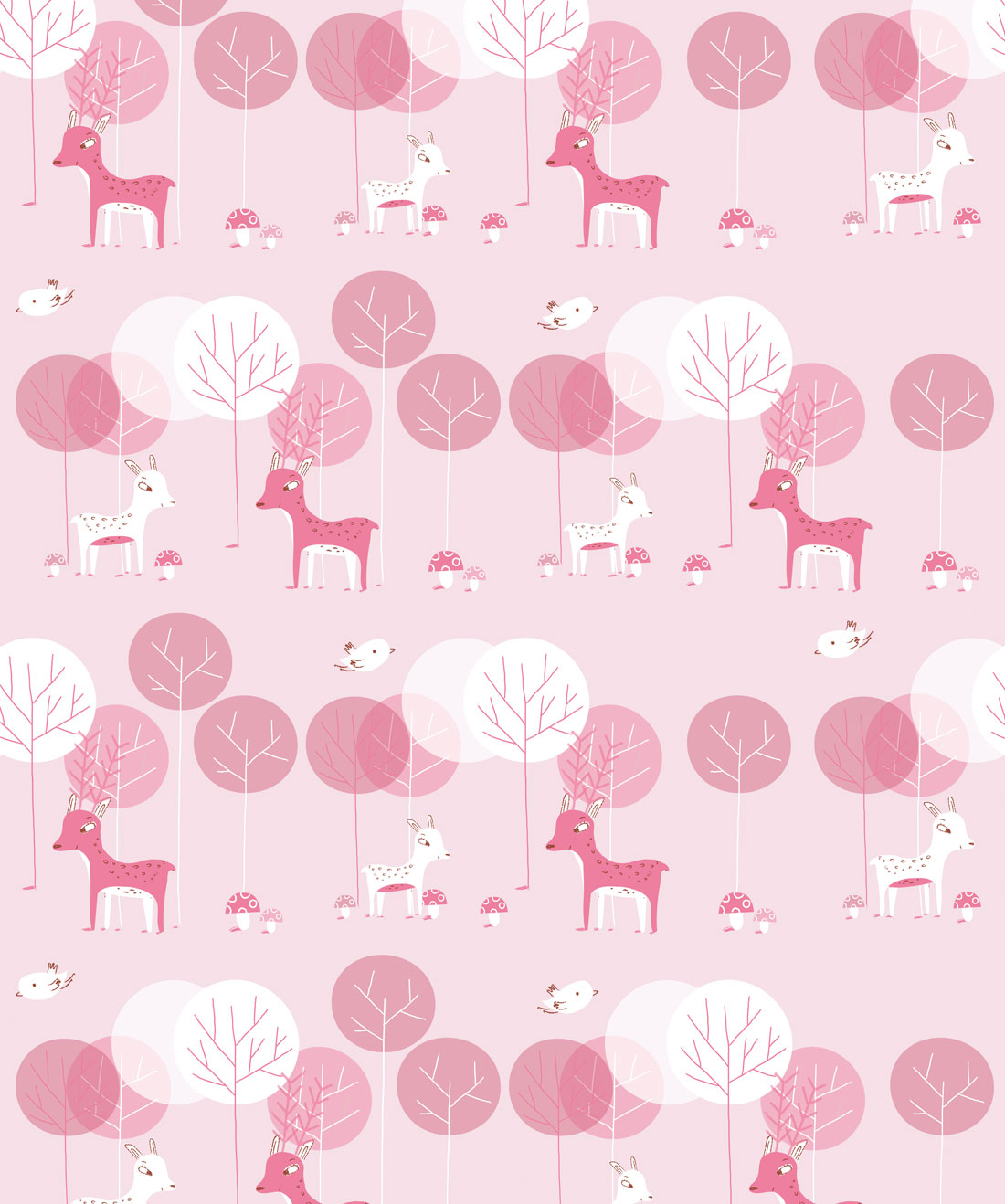 I Heart Deers Wallpaper