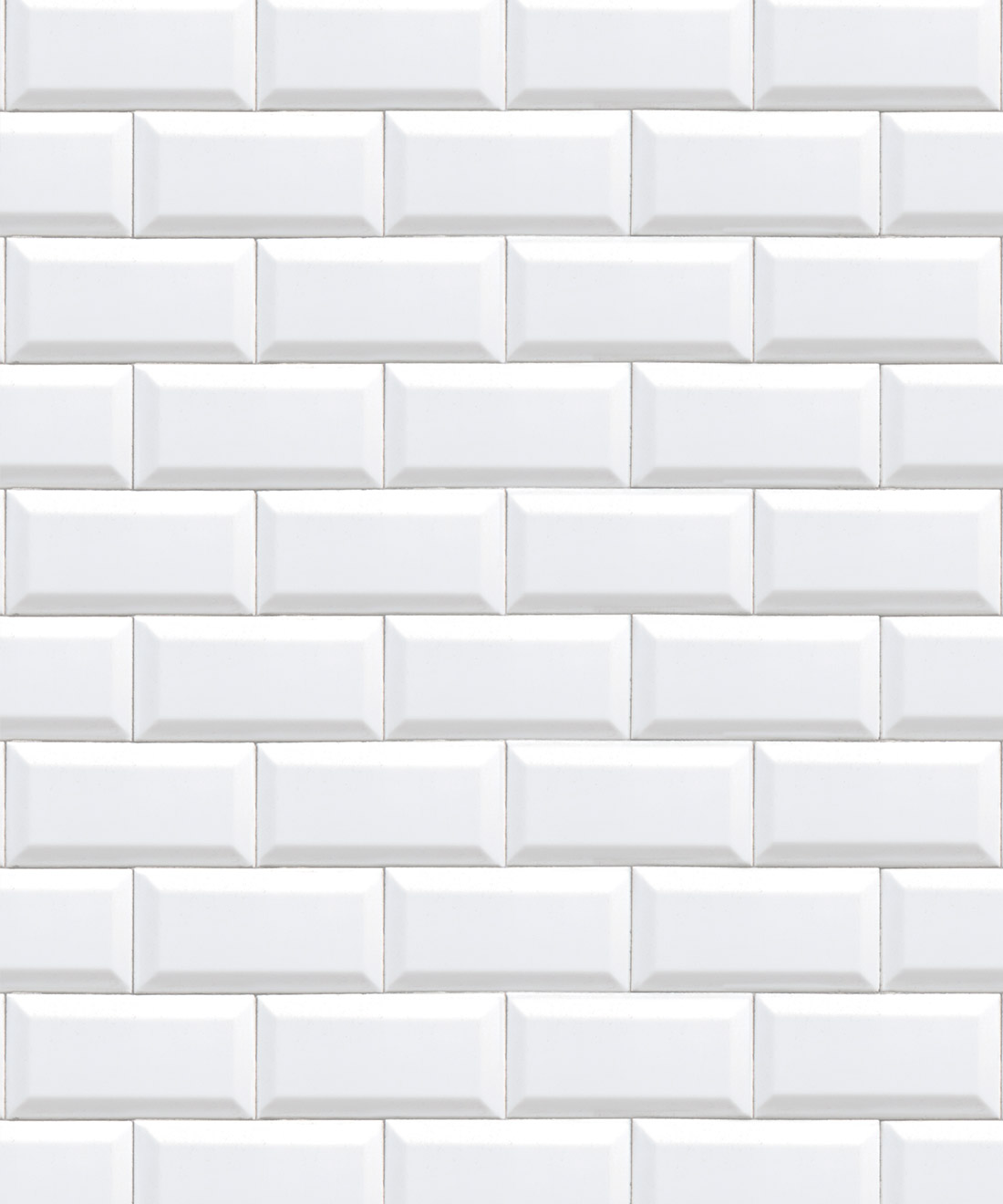 White Subway Tiles Wallpaper