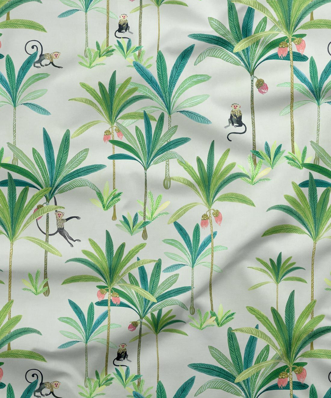 Monkey Palm Cream Fabric