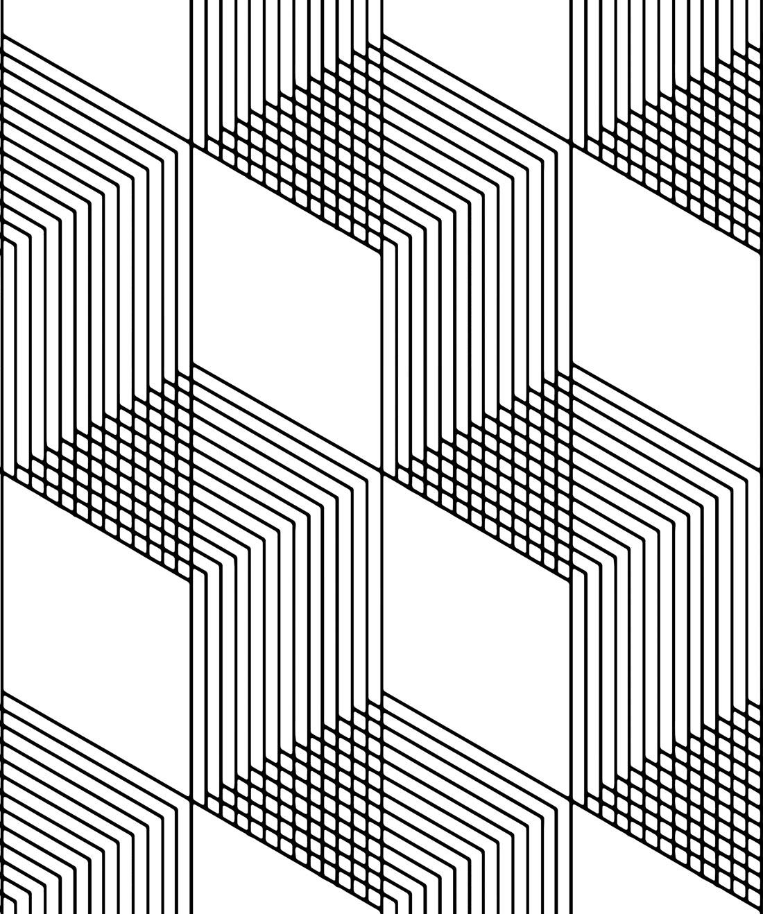 Origami Wallpaper Simple Geometric Black White Milton King Eu