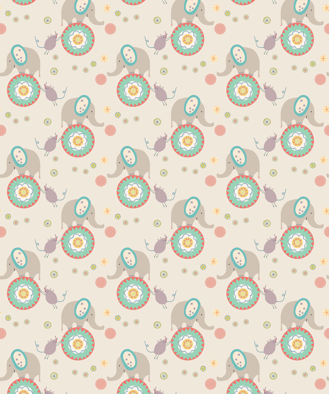 Elephants & Mice Wallpaper