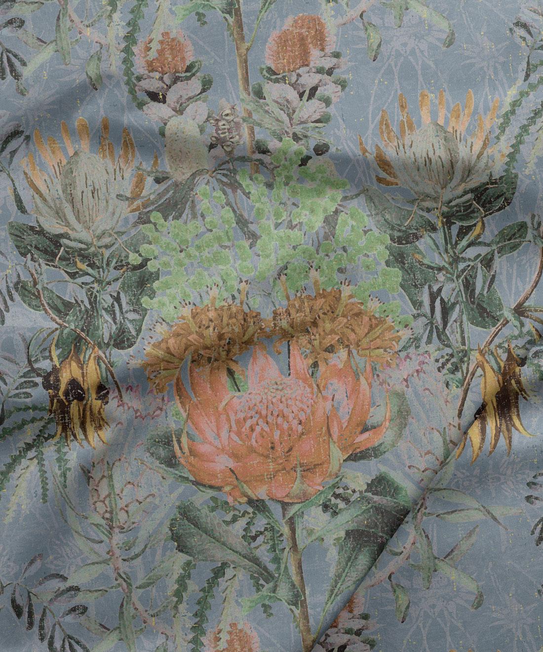 Wild Flowers Grey
