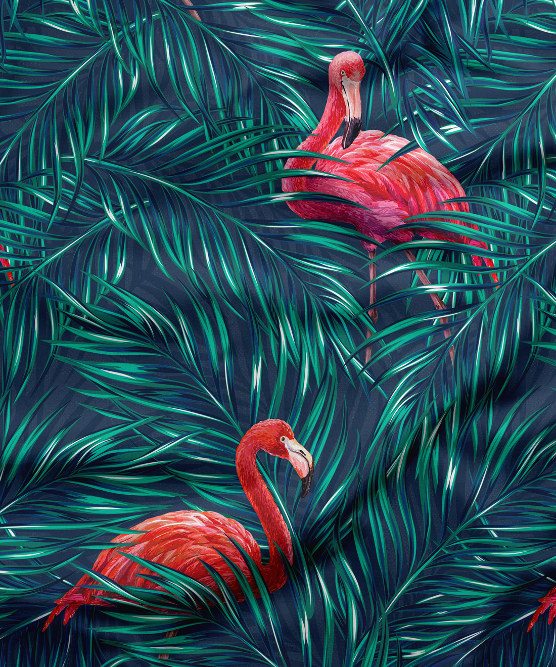 Tropical Flamingos Fabric