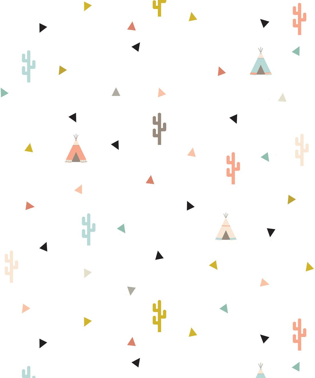 Teepee & Cactus Wallpaper