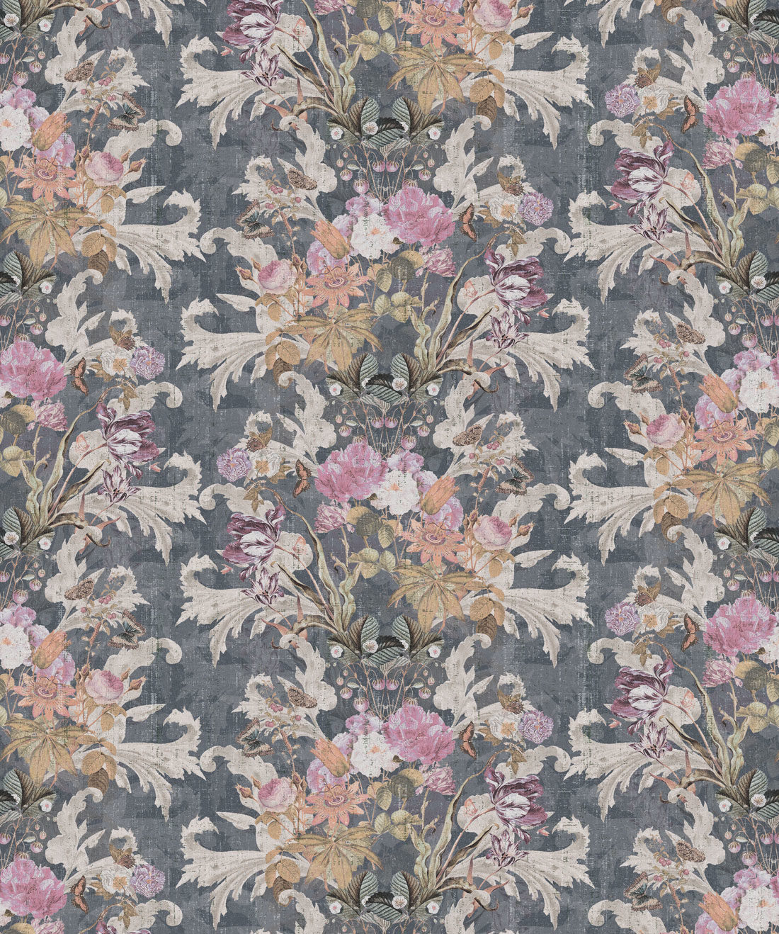 Efflorescence Wallpaper Grey