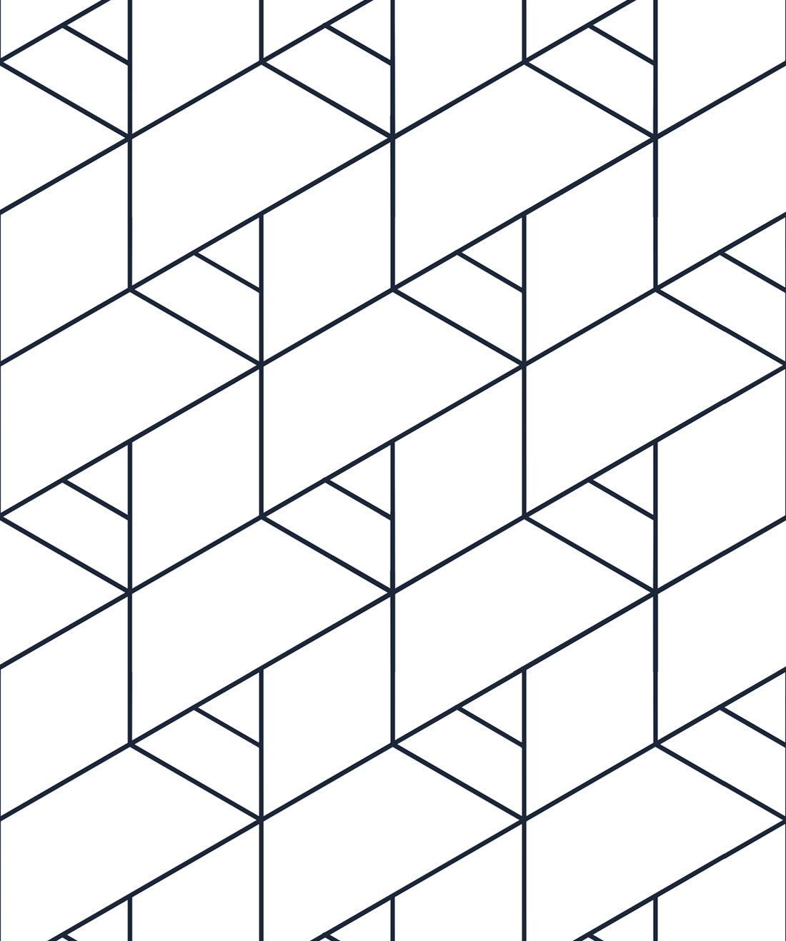 Kaleidoscope Black White Geometric Wallpaper Milton King Eu