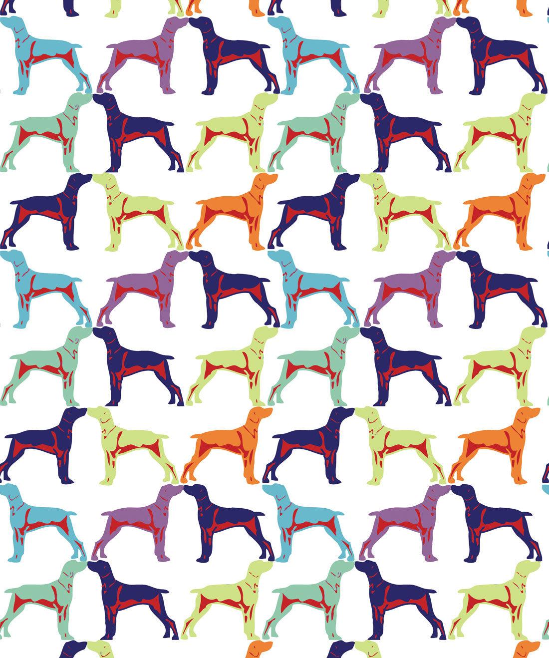 Off The Leash Contemporary Dog Wallpaper For Walls Milton King Eu
